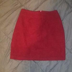 Vintage Esprit Red Woven Mini Skirt Size 3/4
